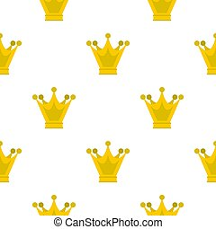 Princess crown pattern flat