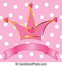 Princess crown - Pink background with crown for true ...