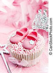 Princess cupcake - Cupcake decorated for a little princess