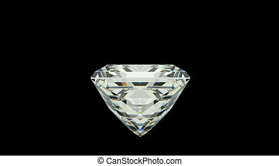 Princess Cut Diamond with alpha channel (seamless)