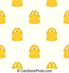 Princess dress pattern seamless