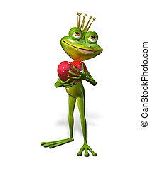 princess frog - abstract illustration of the green frog...