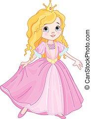 Illustration of beautiful princess dancing