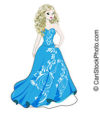 princess in blue dress