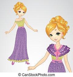 Princess In Romantic Purple Dress