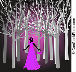 princess in the dark woods