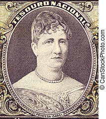 Princess Isabel on 50 Cruzerios 1963 Banknote from Brazil....