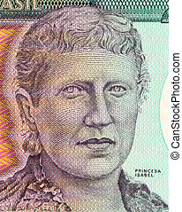 Princess Isabel on 200 Cruzerios 1984 Banknote from Brazil....