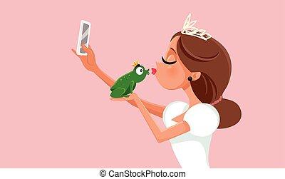 Princess Kissing Frog Virtue Signaling on Social Media ...