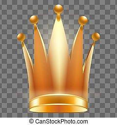 princess., ou, reine, couronne, royal, or