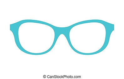 Princess Party Glasses of Blue Vector Illustration