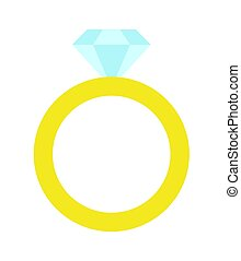 Princess Party Golden Ring Vector Illustration