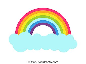 Princess Party Rainbow Poster Vector Illustration
