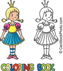 princess., poco, libro colorante
