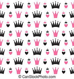 Princess Seamless Pattern Background