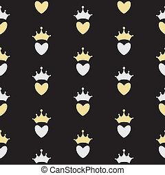 Princess Seamless Pattern Background Illustration