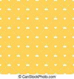 Princess Seamless Pattern Background Vector Illustration
