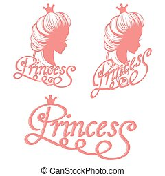 Princess silhouette and lettering