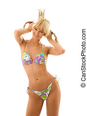 princess - pretty girl in princess crown and bikini