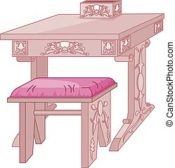 Princess Student Desk and Chair