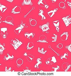 Princess style cartoon pattern
