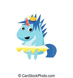 Princess Unicorn With The Crown