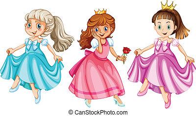 Princess - Illustration of three princesses