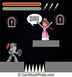 Princess warrior and videogame design