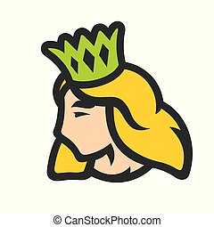 Princess with crown sign