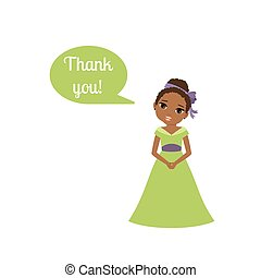Princess with speech bubble Thank you