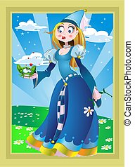 Princessand frog on the Fairytale lands%u0441ape