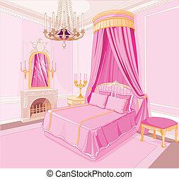 princesse, chambre à coucher