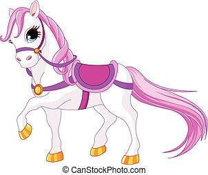 princesse, cheval