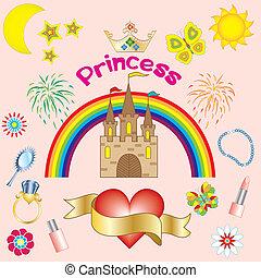 princesse, fond
