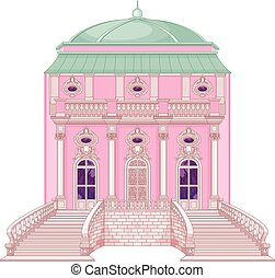 princesse, palais, romantique