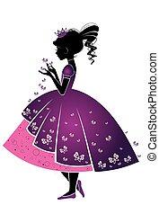 princesse, papillons