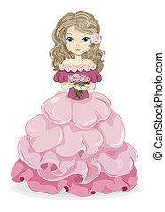 princesse, rose