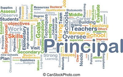 Principal background concept