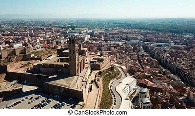 principal, -, monument, cathédrale, vieux, catalogne, espagne, lleida, gothique, historique