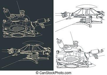 principal, rotor, helicóptero, desenhos