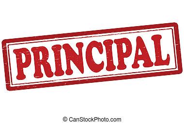 Principal - Stamp with word principal inside, vector...