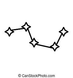 principal, urso, constelação, desenho, teia, estilo,...