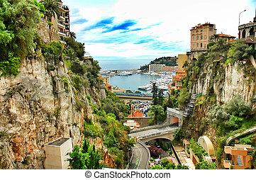 Monaco - Principality of Monaco, mediterranean sea - near ...