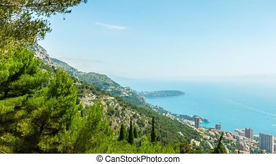 Principality of Monaco, Monte Carlo, panoramic time-lapse