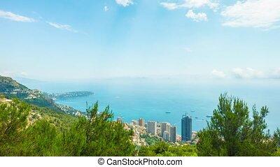 Principality of Monaco, Monte Carlo, panoramic time-lapse