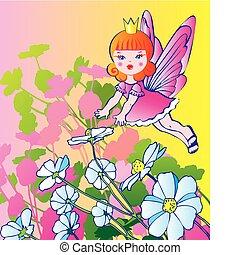 principessa, con, flowers.