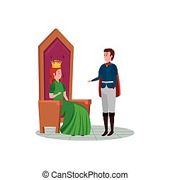 principessa, principe, carattere, bello, avatar