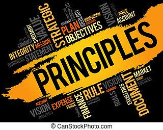 Principles word cloud