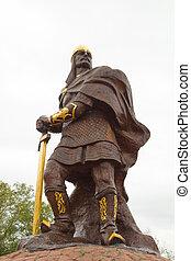 prins, mal, skulptur, -, hjälte, av, rysk, epos