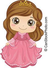 prinsesje, kostuum